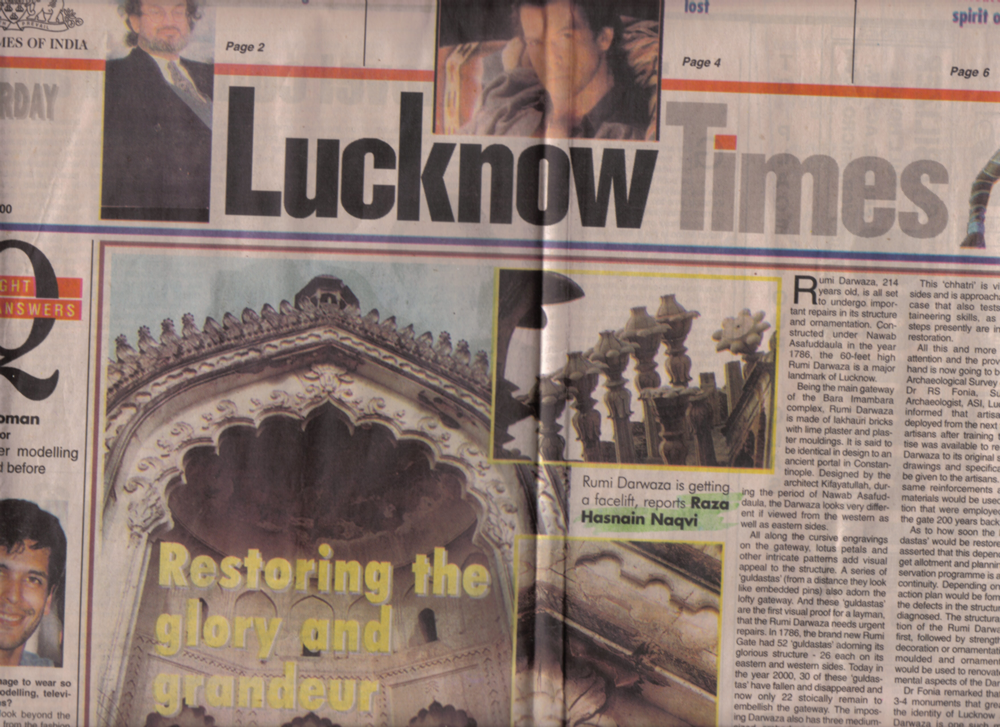 The Times of India newspaper, Lucknow, May – Byline Raza