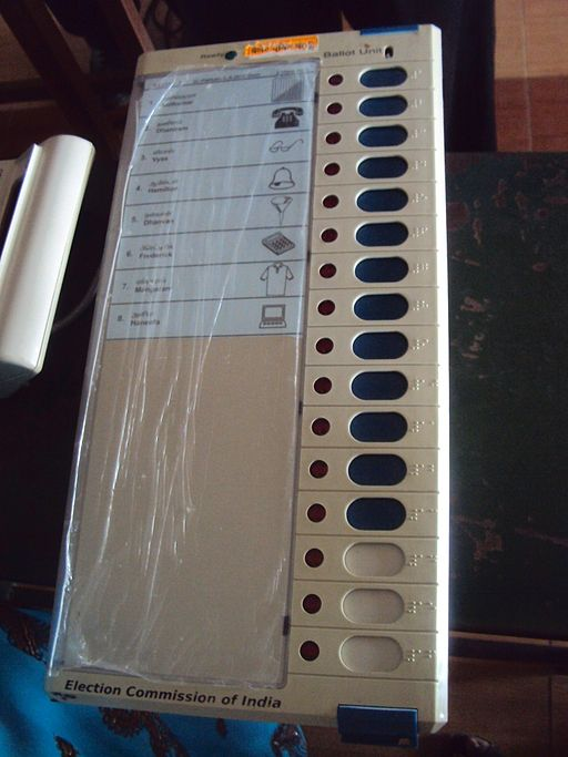 Electronic Voting Machine (EVM) for Indian General Election 2014