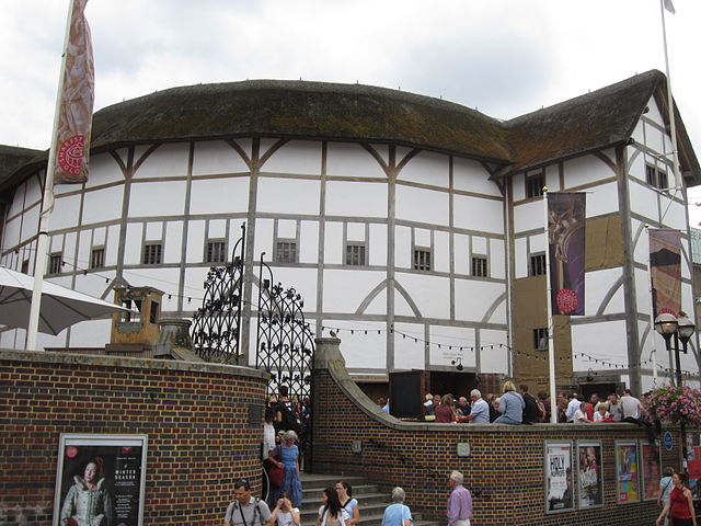 Shakespeare's Globe near River Thames